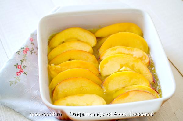 Персиковый пирог-перевертыш