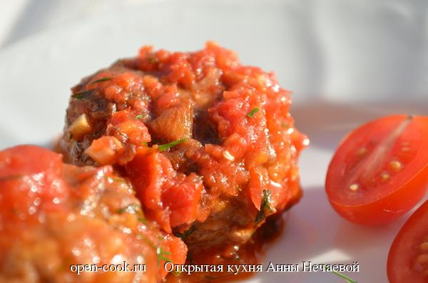 Говяжьи котлетки в томатном соусе