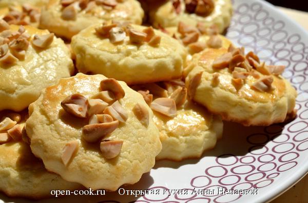 рецепт печенья с арахисом