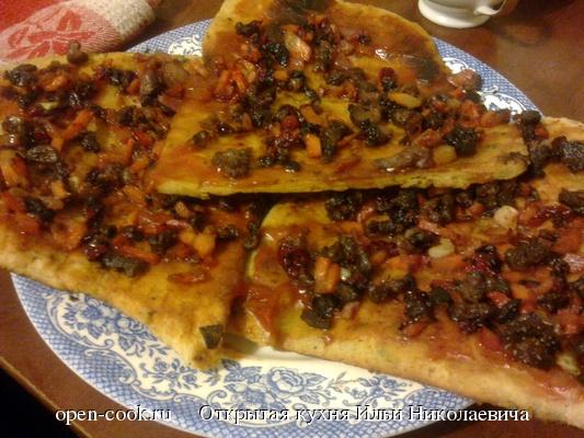 пицца из гуся