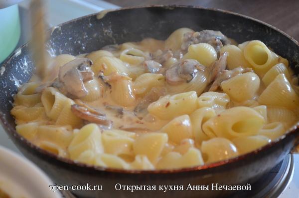 Русская паста с грибами