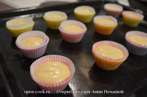 Нежные капкейки, пошаговый рецепт с фото