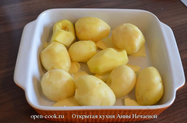 Запеченный картофель в йогуртовой заливке