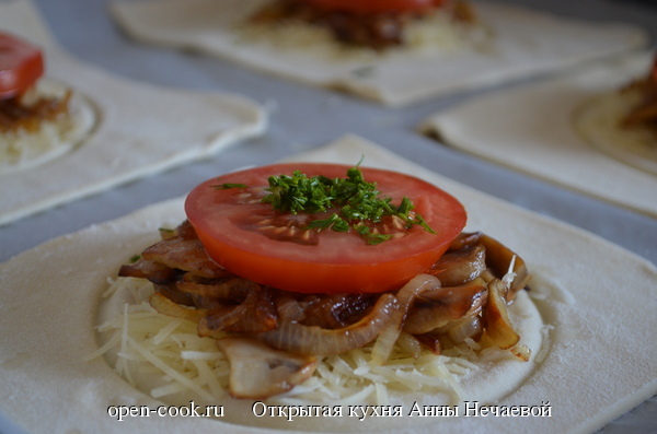 Мини-тарты с грибами