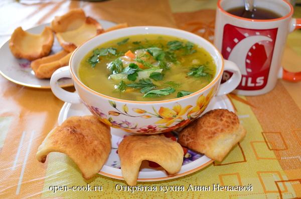 Жареные лепешки к супу