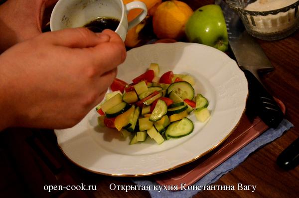 Ванильная заправка для овощного салата от Константина Вагу