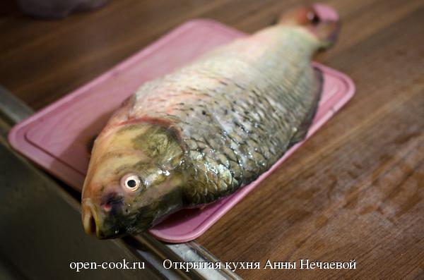 Рыба, фаршированная кашей