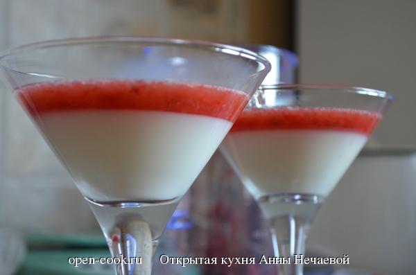 Йогуртово-клубничное желе