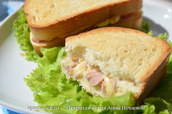 Сэндвич с ветчиной и сыром пошаговый рецепт