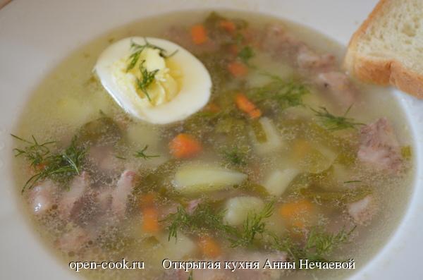 Щавелевый суп рецепт пошаговый рецепт с
