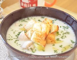 рецепт сырного супа с генками