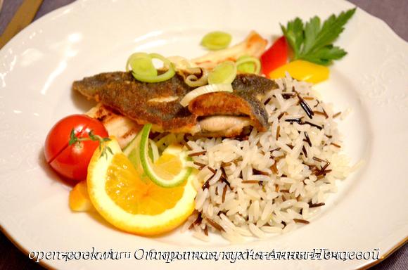 Филе камбалы с рисом от Константина Вагу
