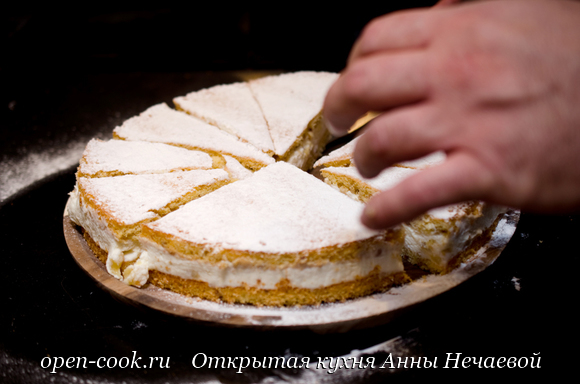 Торт с рикоттой и грушей с МК в школе GUSTOMAESTRO