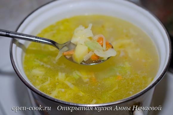 Куриный суп с горошком