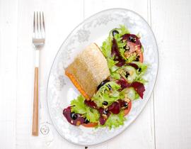Салат из печеной свеклы нектаринов и киноа  пошаговый