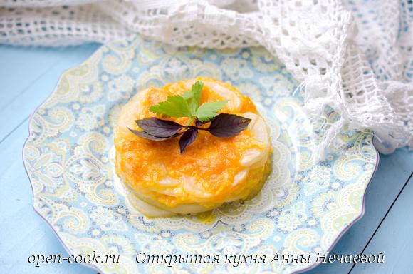 Картофельный гратен с сыром Чеддер