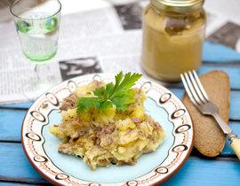 Картошка мятая с тушенкой рецепт