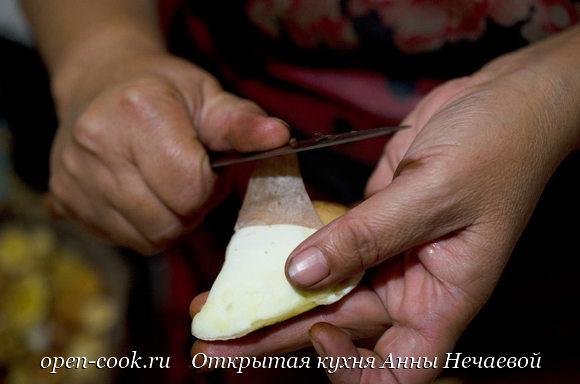 Маслята жареные со сметаной