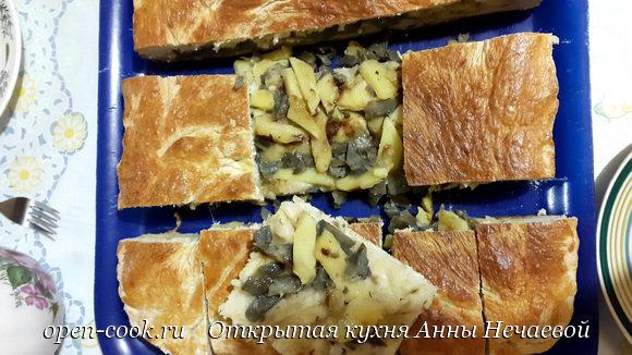 Сибирский пирог с груздями
