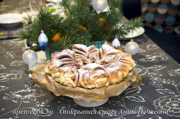 """Пирог """"Рождественская звезда"""""""